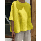Women's Casual Large Size Solid Color Blouse