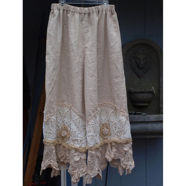 Women's Patchwork Lace Pants