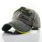 Mens Washed Denim Embroidere Pattern Sunshade Baseball Cap