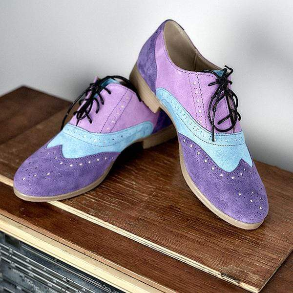 Daily Stitching Color Lace-Up Flat Sneakers