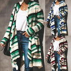 Autumn Daily Striped Knit Cardigan