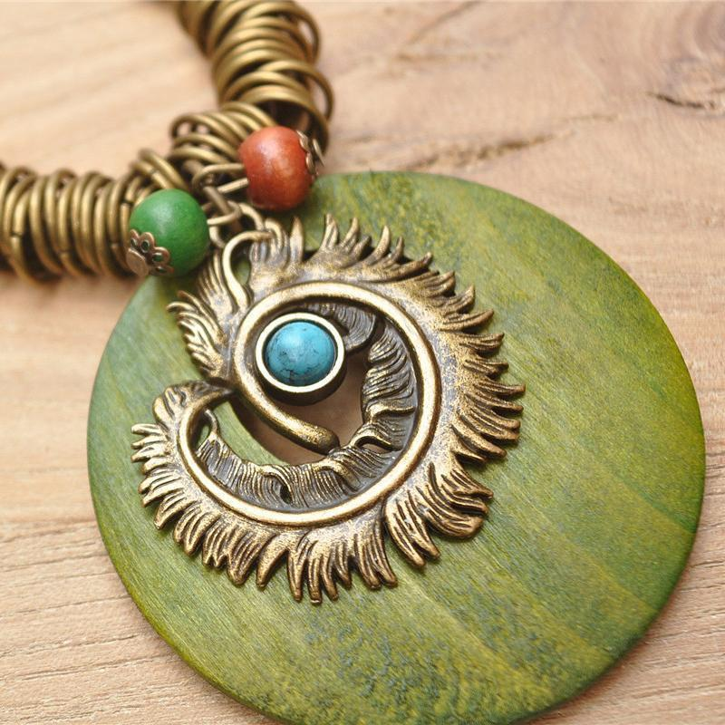 Vintage Round Alloy Necklace