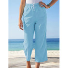 Plus Size Solid Color Crop-Length Pants