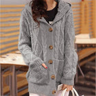 Autumn Fashion Hoodie Solid Color Women Sweater Coat