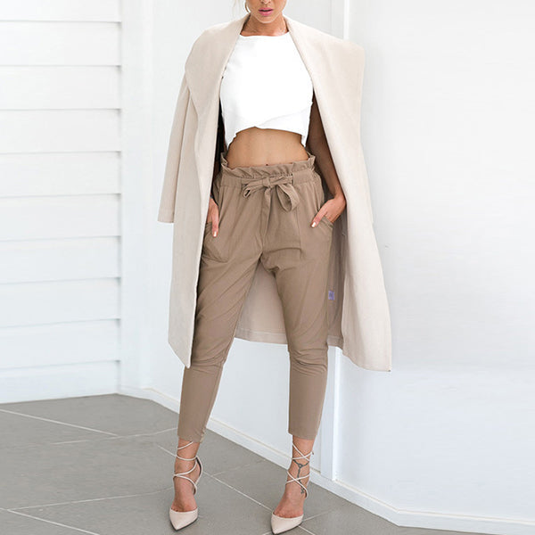 Fashion Wild Waist Cropped Pants