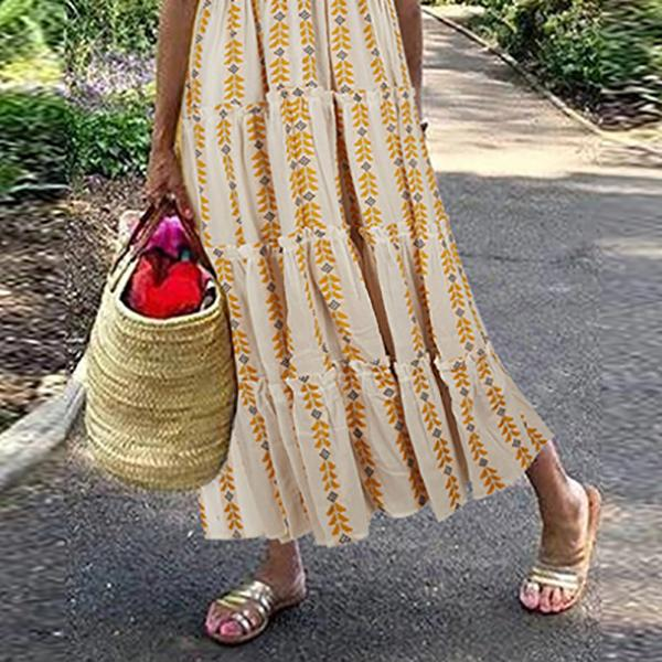 V Neck Summer Vacation Dresses