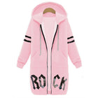Casual Letter Printed Zipper Hooded Coats