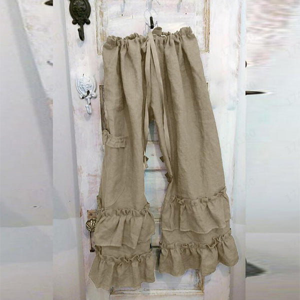 Women's Solid Color Casual Lace Pants
