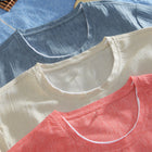 Casual Breathable Solid Color T-Shirts