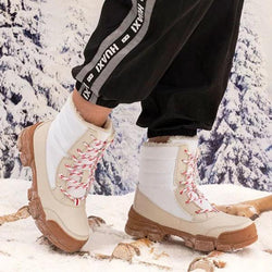 Waterproof Winter Platform Thick Fur Heel Snow Boots