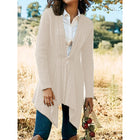 Solid Color Horn Buckle Casual Knitting Cardigan