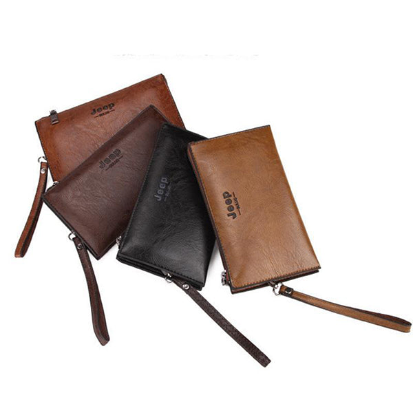 Men's Business Casual Zipper Wallet