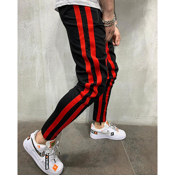 Summer Casual Zipper Elastic Band Pants