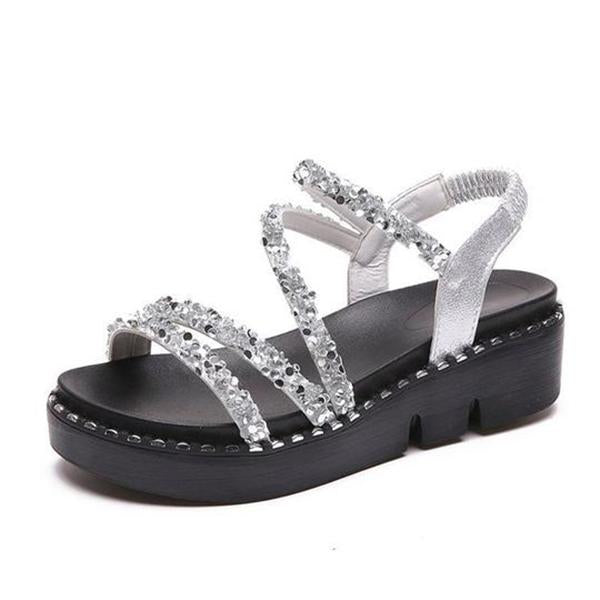 Fashion Shiny Platform Sandals