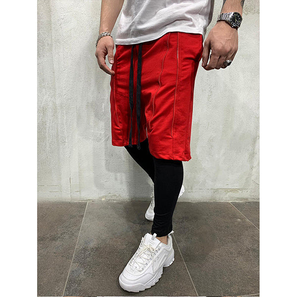 Casual Solid Color Elastic Band Short Pants