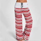 Christmas Printed Elastic Pants