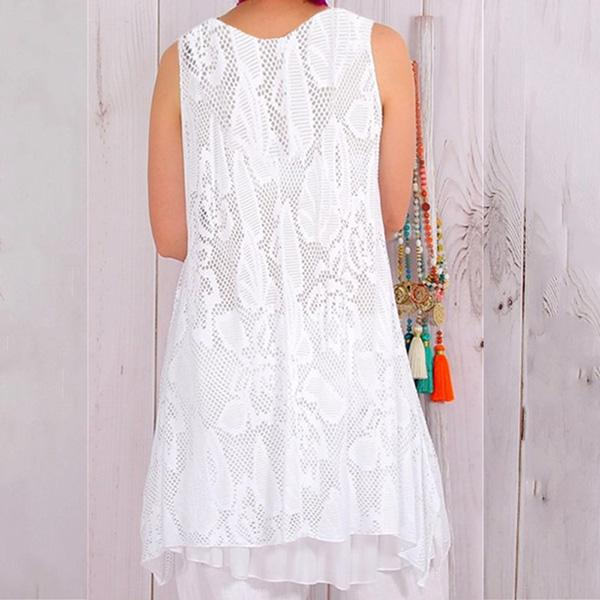 Lace Casual Sleeveless Dress Loose Dress