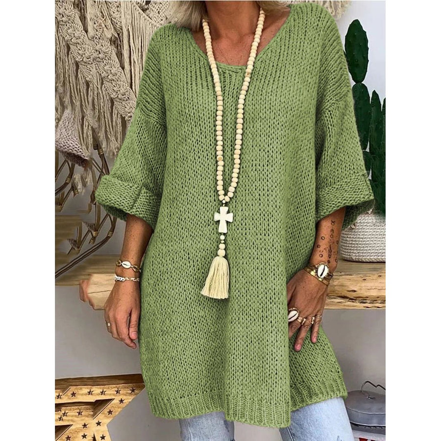 Knitting Solid Color Women Dress