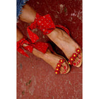 Holiday Beads Lace Up Sandals