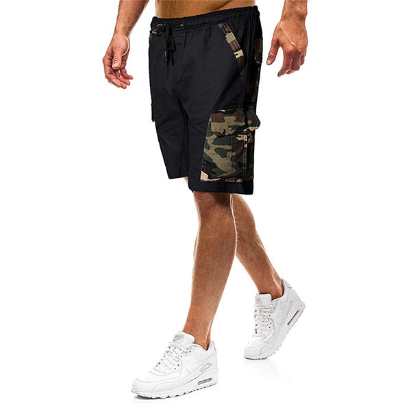 Fashion Camouflage Stitching Loose Shorts