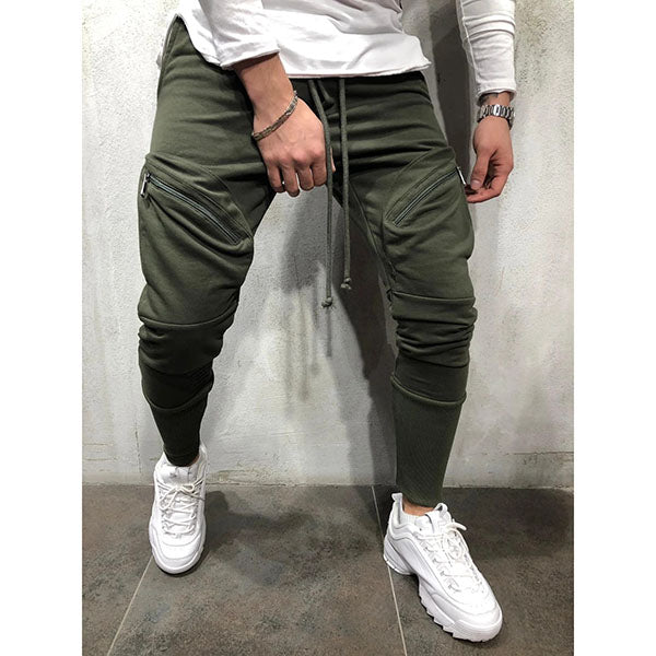 Men's Casual Sports Zipper Pocket Pants