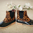 Casual Waterproof Two-Tone Duck Boots