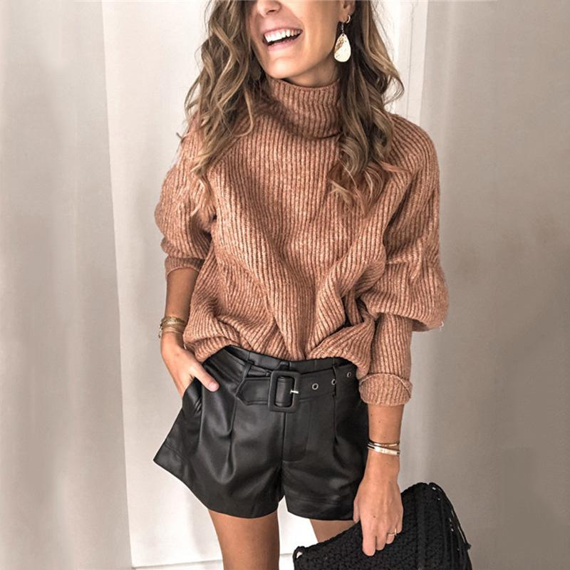 High Neck Winter Casual Sweaters