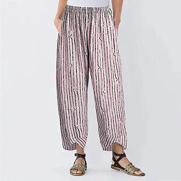 Casual Loose Striped Pants