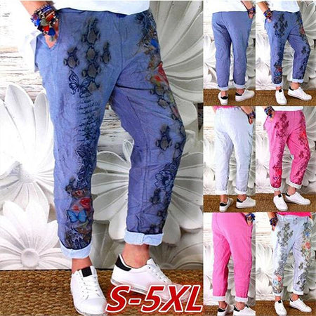 Fashion Casual Printing Women's Pants