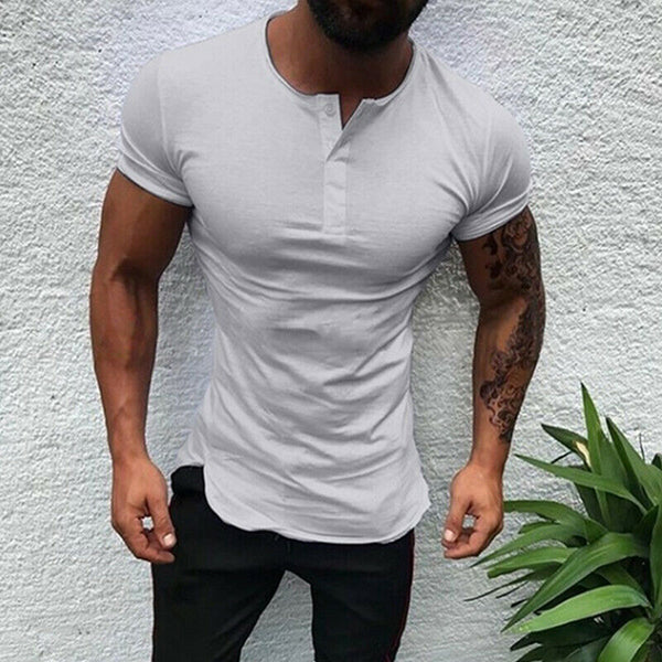 Men' Simple Solid Color Basic Shirts
