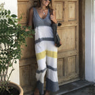 Daily Sleeveless Loose Spliced Jumpsuit