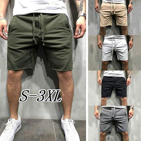 Men's Elastic Waist Solid Color Pants