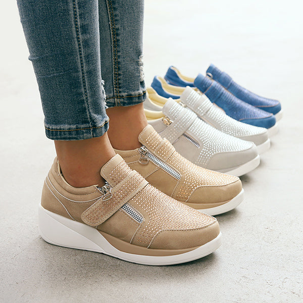 Women's Thick Bottom Zipper Sneakers