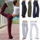 Elastic Waist Button Yoga Plus Size Pants