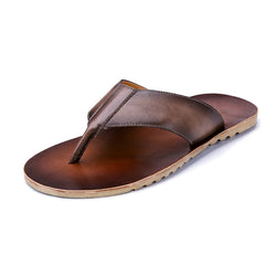 Men's Vintage Casual Leather Slippers