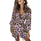 Women's Leopard Print Sequin Print Dress