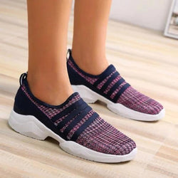 All Season Women Low Heel Breathable Plus Size Sneakers