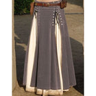 Bandage Patchwork High Waist Solid Color Skirt