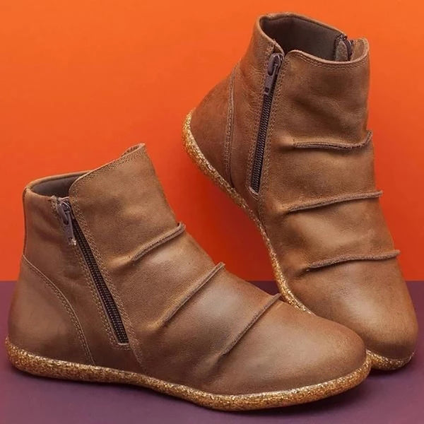Round Toe Spring/Fall Flat Soft Boots