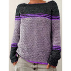 Women's Daily Stitching Color Sweater