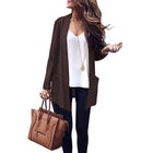 Daily Pure Color Long Sleeve Coats