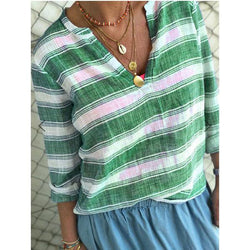 Autumn Women Striped Fashion Blouse