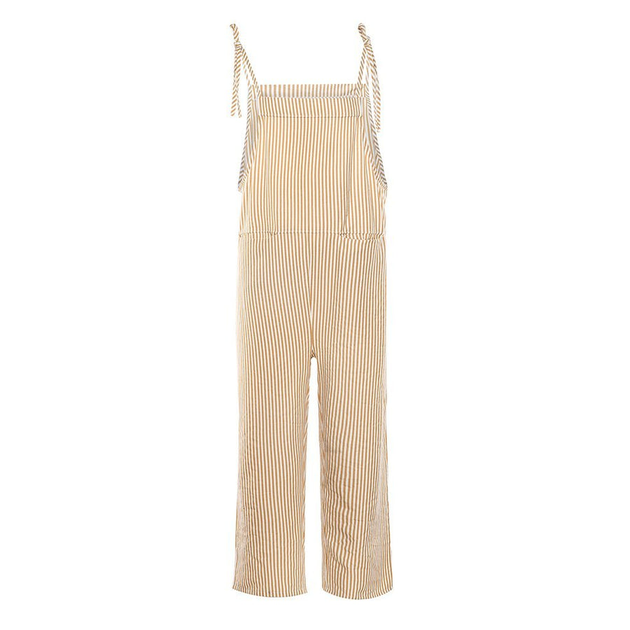 Loose Striped Jumpsuit Wide Leg Pants