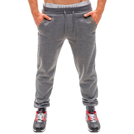 Solid Color Sport Elastic Waist Pants