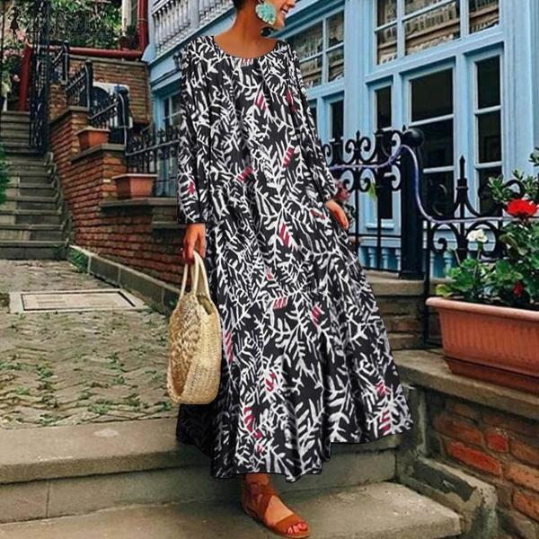 Loose Women Vintage Floral Printed Dress