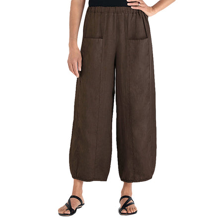 Casual Solid Color Elastic Band Pants