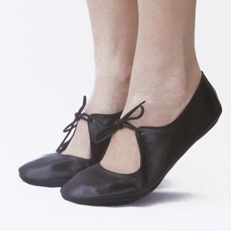 Ballet Flats Lace-Up Summer Flats