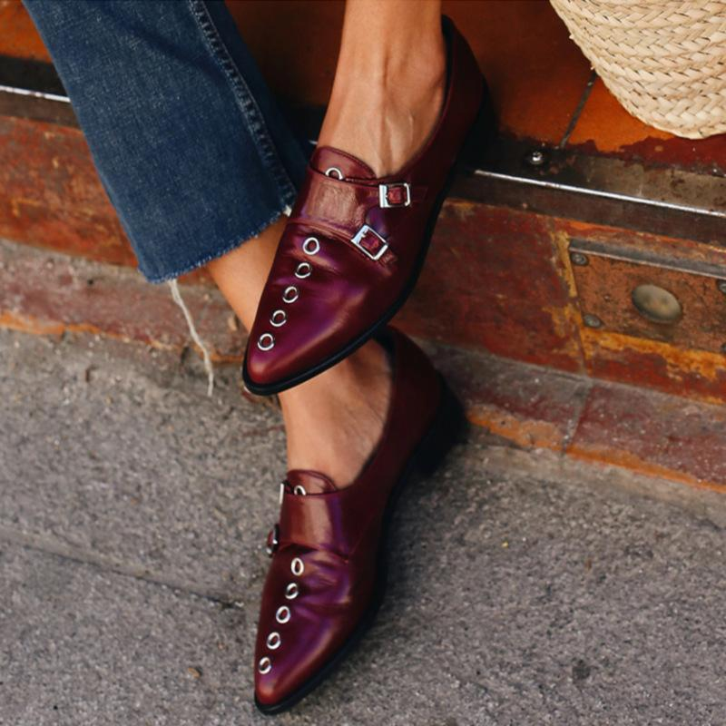 Popular Buckle Flat Shoes