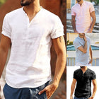 Casual Stand Collar Solid Color Shirts