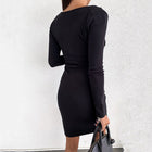 Women's Elegant Long Sleeve Mini Dresses